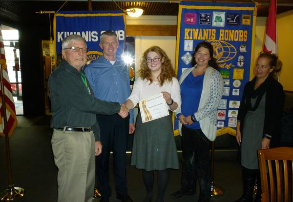 Mason Waller is Kiwanis Student of the Month