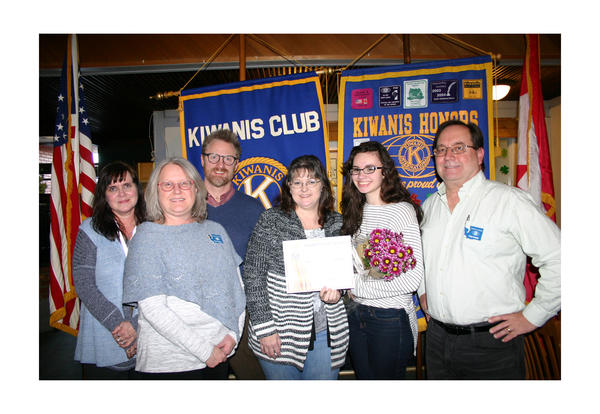 Jessica Head is Kiwanis Student of the Month