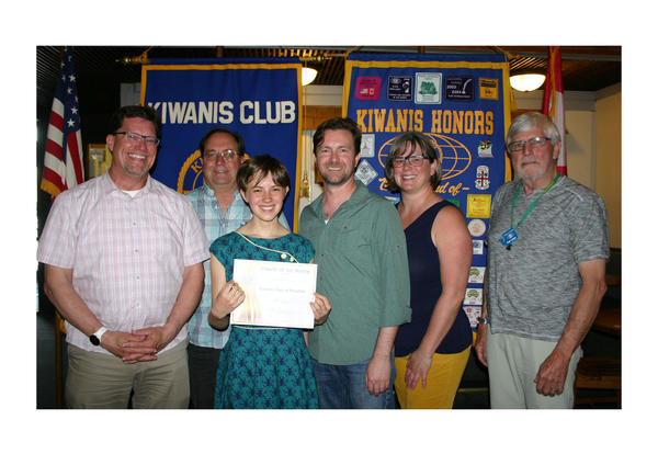 Taegla Kaufman is Kiwanis Student of the Month