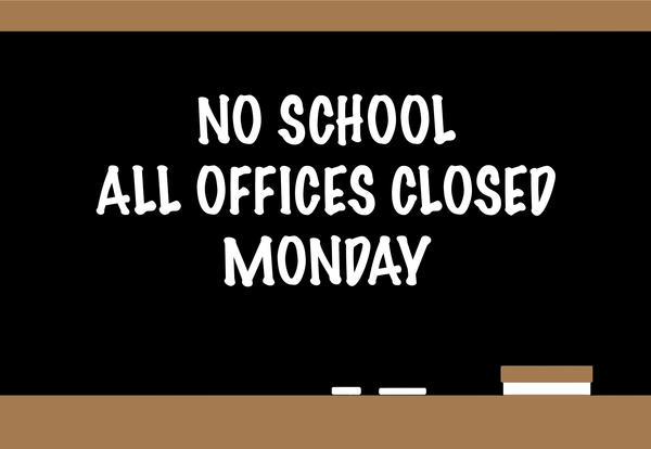 No School Monday—Memorial Day Observance