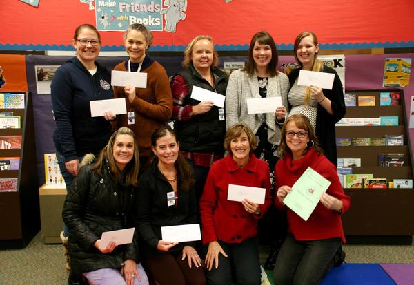 Mini-grant recipients group photo at Eagleridge Elementary