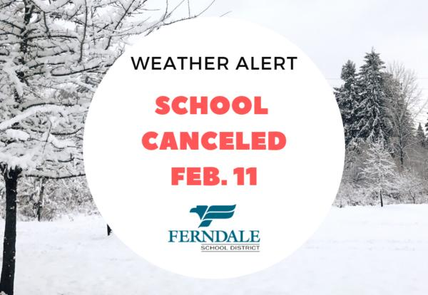 February 11th School Cancelled Graphic