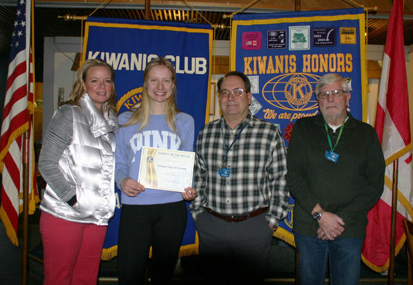 Kimberly Weden is Kiwanis Student of the Month