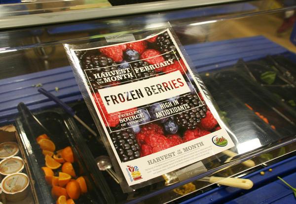 Frozen Berries Harvest of the Month Cafeteria Flyer