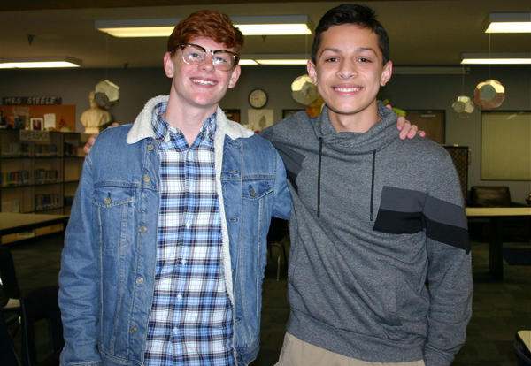 Current Student School Board Members Taylor Lupo (Left) and Noah Semu (Right)