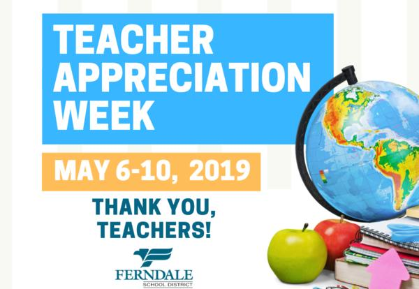 Teacher Appreciation Week Ferndale School District Graphic