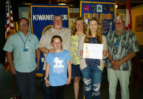 Sarah Anderson is Kiwanis Student of the Month