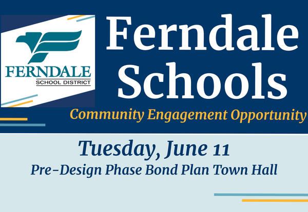 Bond Project Pre-Design Town Hall Meeting Graphic - Tuesday, June 11 Event