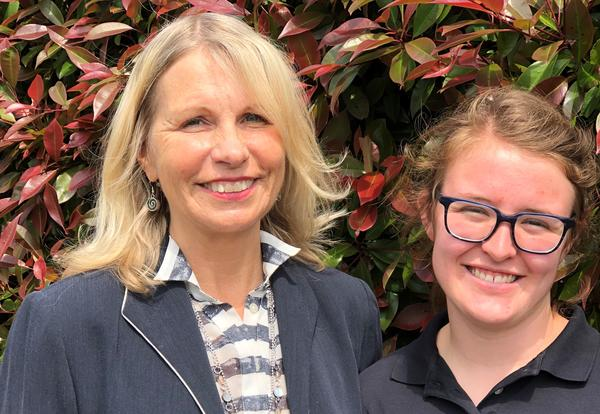 Superintendent Dr. Linda Quinn and Ellie Elefson