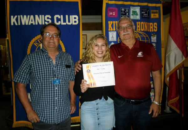 Kate Cleary is Kiwanis Student of the Month