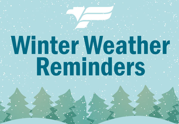 Ferndale School District Winter Weather Reminders Graphic