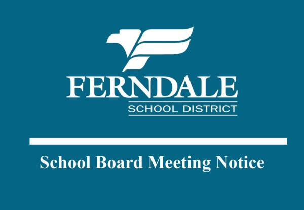School Board Meeting Notice Info Graphic