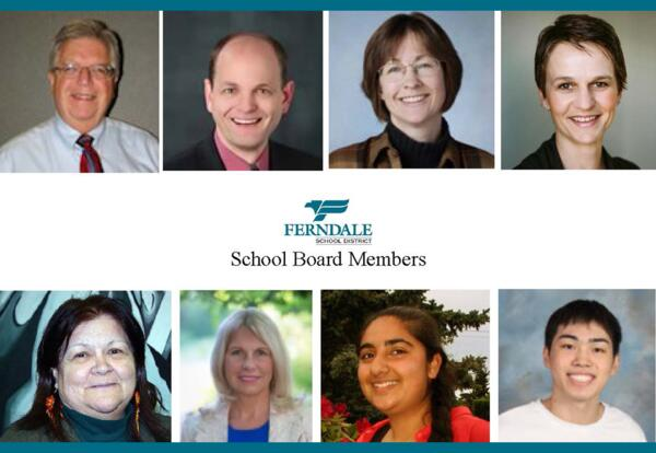 Photos of the school board members