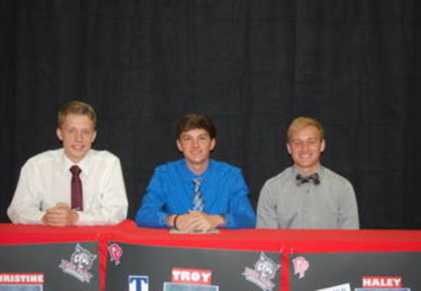 Deer Park Boy's Soccer Trio Sign National Letters of Intent