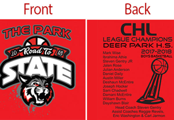 Deer Park Basketball Tournament Shirts on Sale Friday
