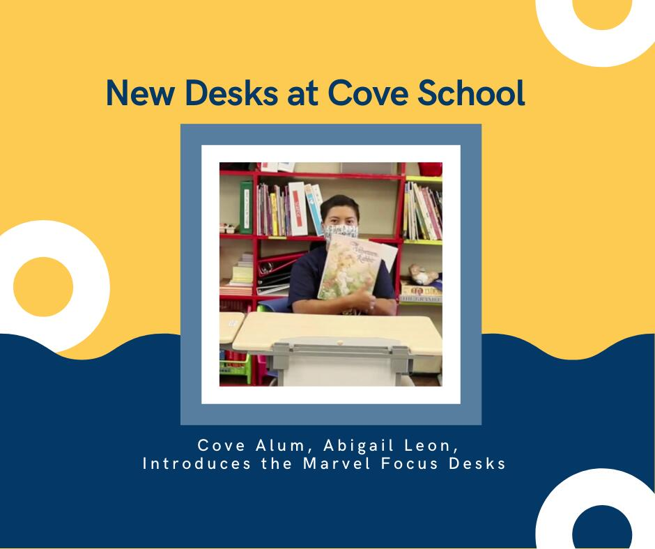 New desks at Cove School