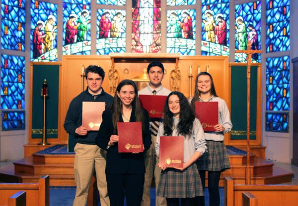 Knights of Columbus Recognizes Bishop Stang Essay Writers
