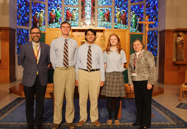 Bishop Stang High School announces that the following students have been named Commended Students in the 2020 National Merit Scholarship Program: Kathleen C. Downey (Mattapoisett) Cameron T. Garde (Fairhaven) Quinn J. Sullivan (Westport)