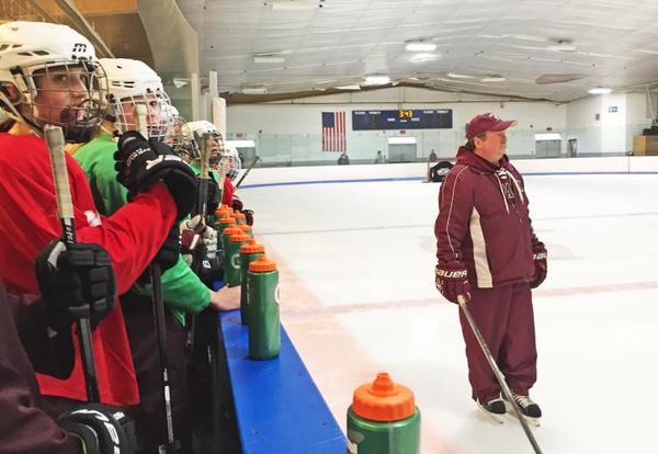Bishop Stang Girls Hockey Team Stands Together