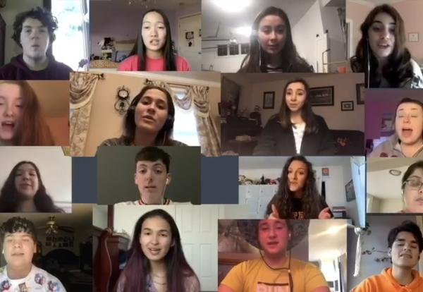 Bishop Stang Students Turn Social Distancing into Beautiful Music