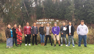 Students of the Land of the Menominee Sign