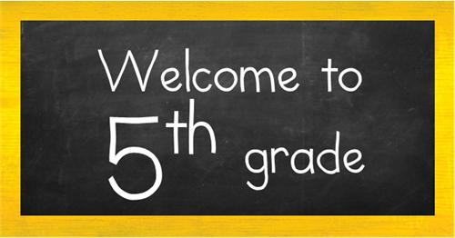 welcome 5th grade