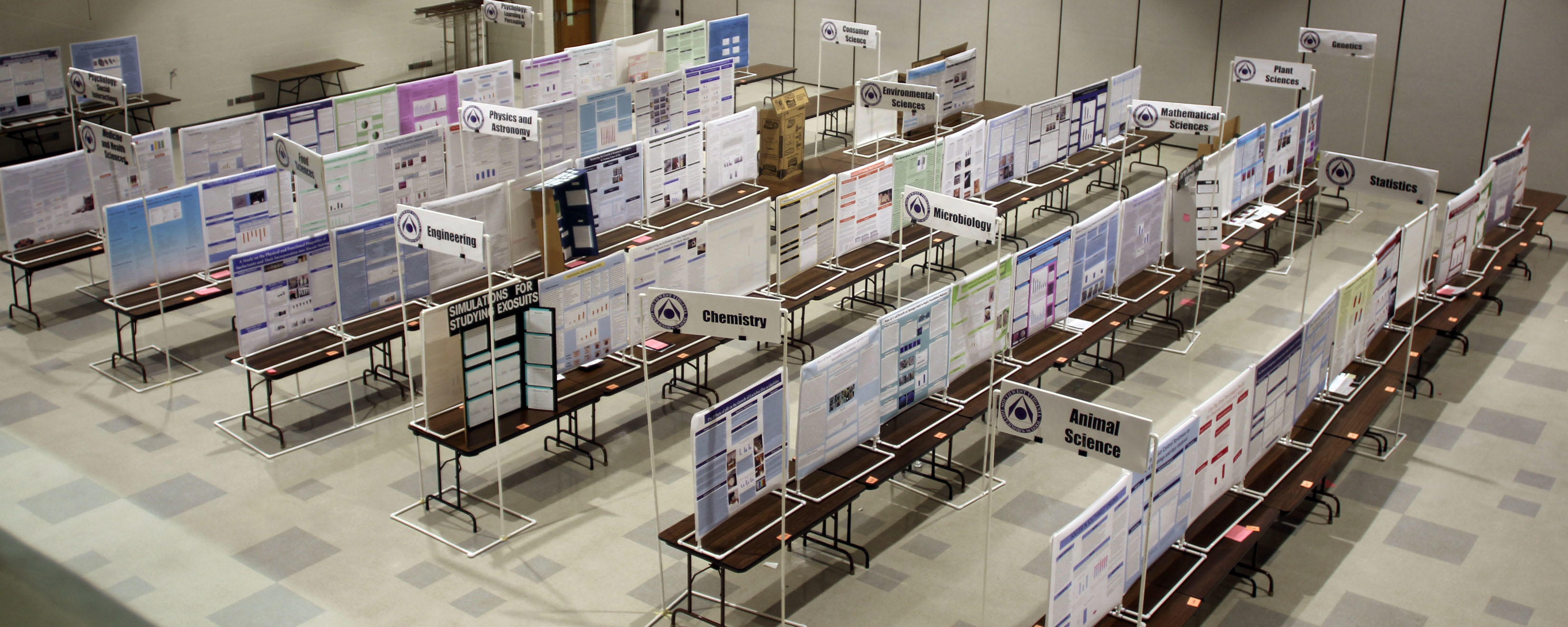 Project displays at the Southwest Virginia Governor's School