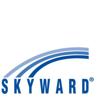 logo of skyward. our student information system.