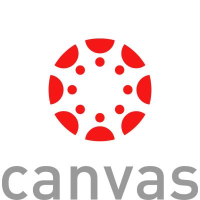 logo of canvas, our learning management system.