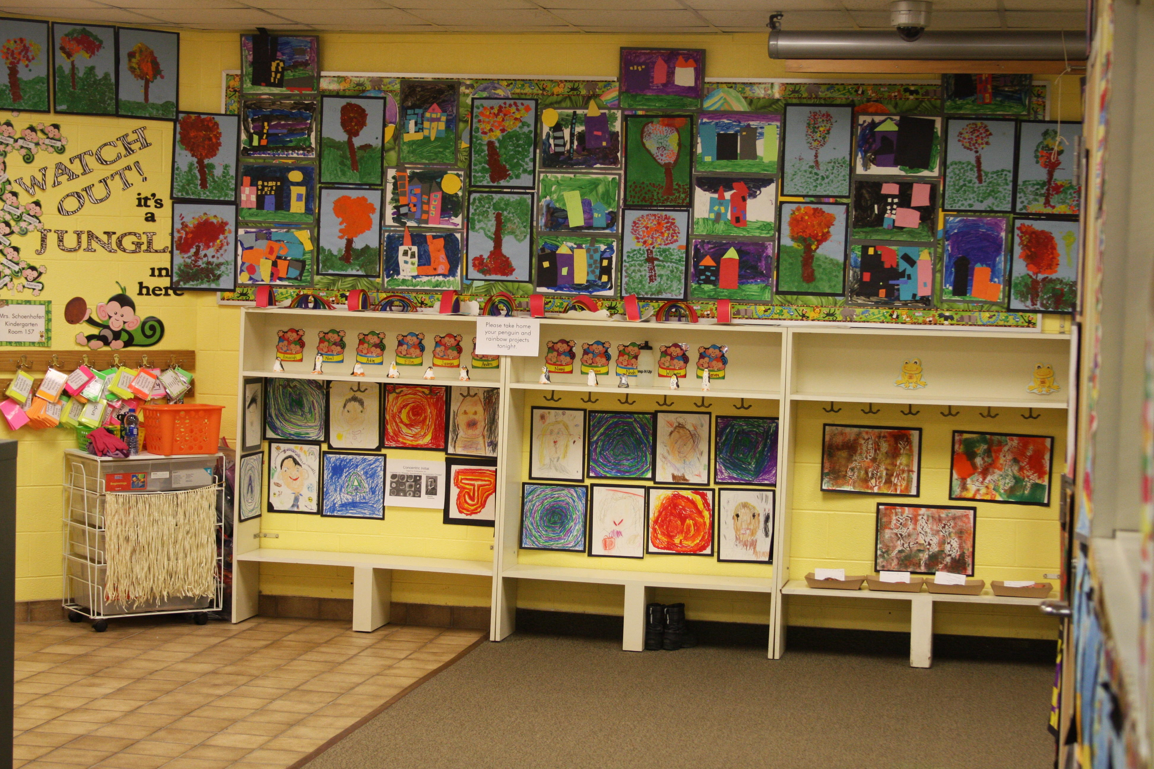 kindergarten art display