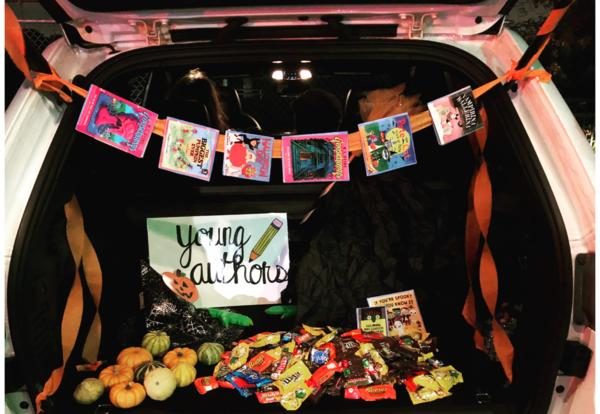 image of treats in a trunk