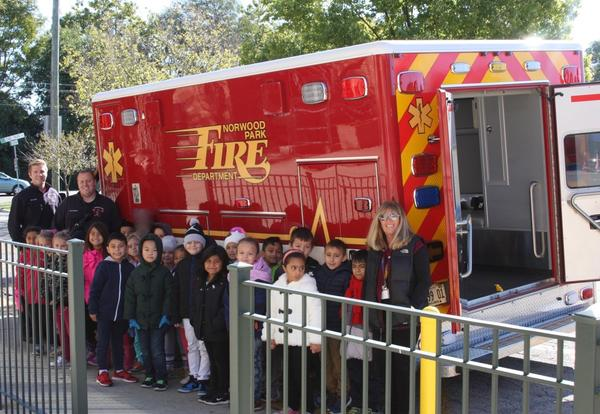 Norwood Park Fire Truck Visit