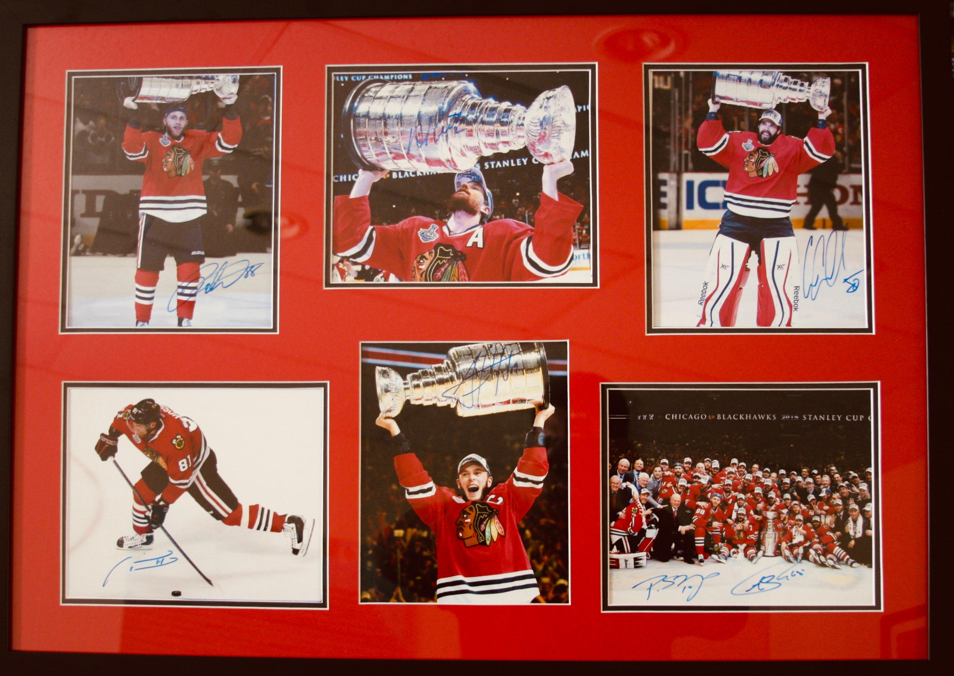 poster of blackhawks collage