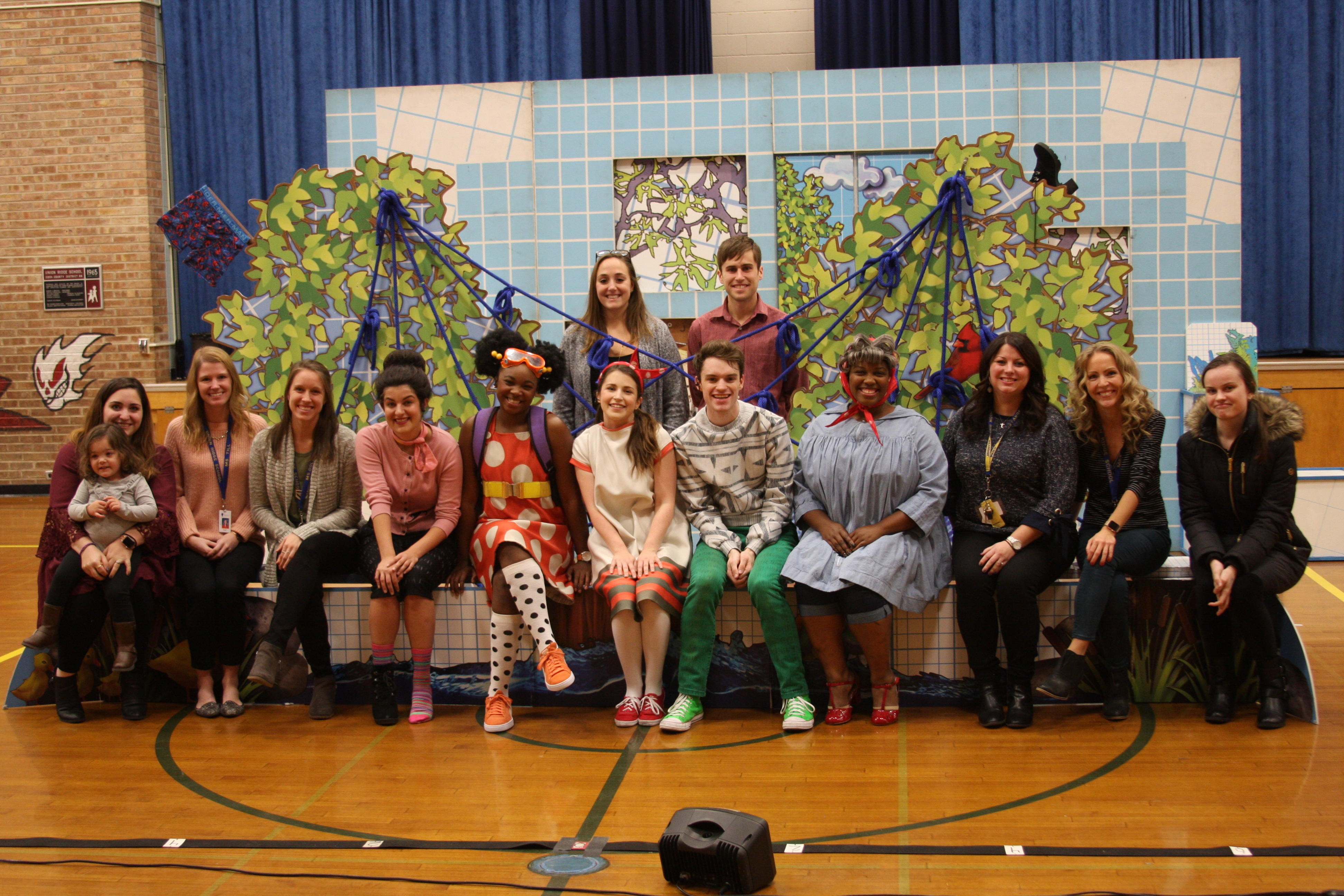 Young Author Committee and the cast of Rosie Revere posting for a group picture