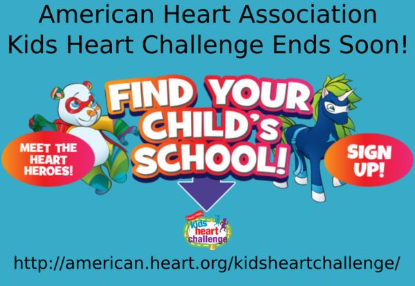 Kids Heart Challenge End Soon!