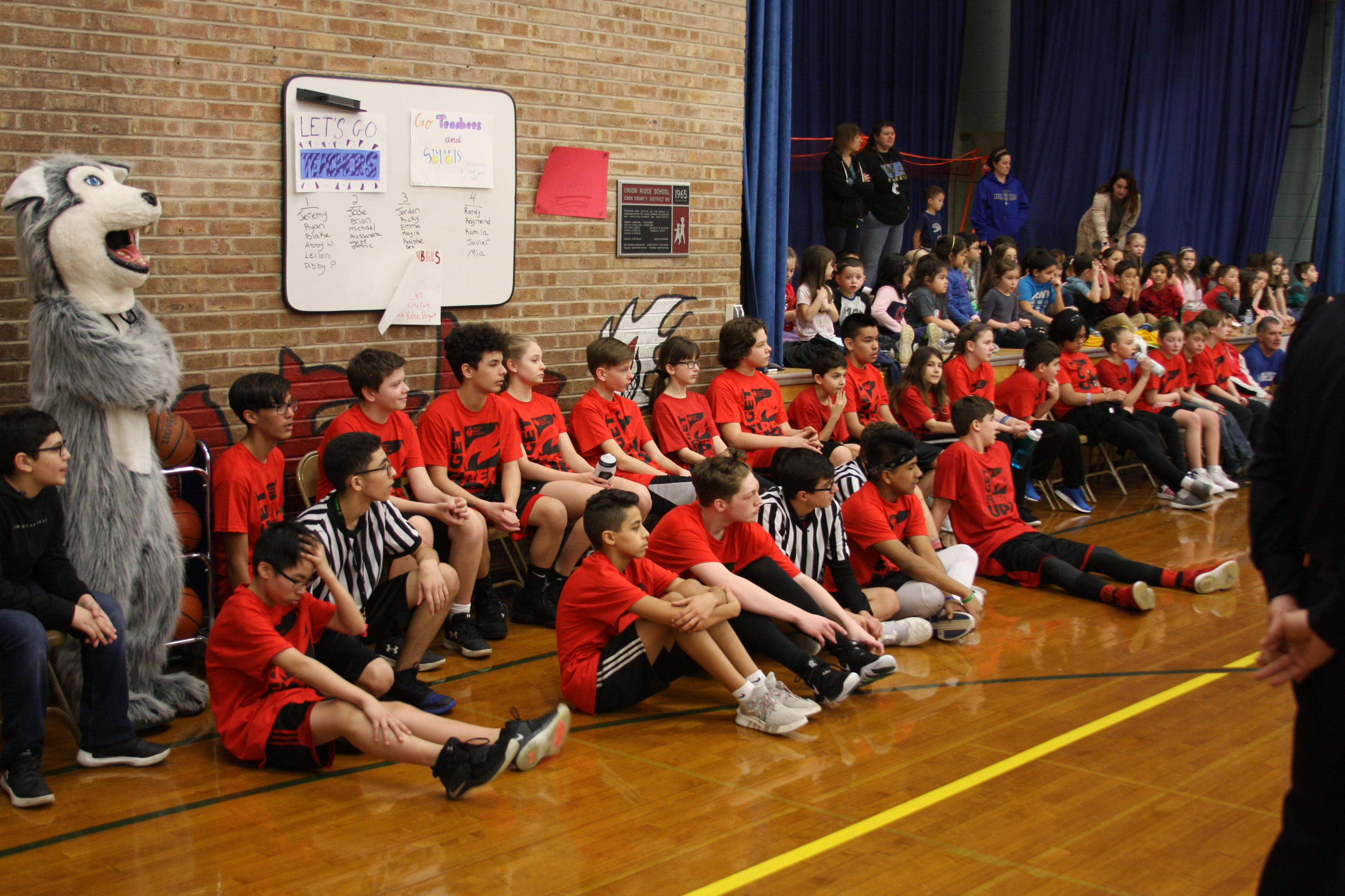 hoops for heart student's team