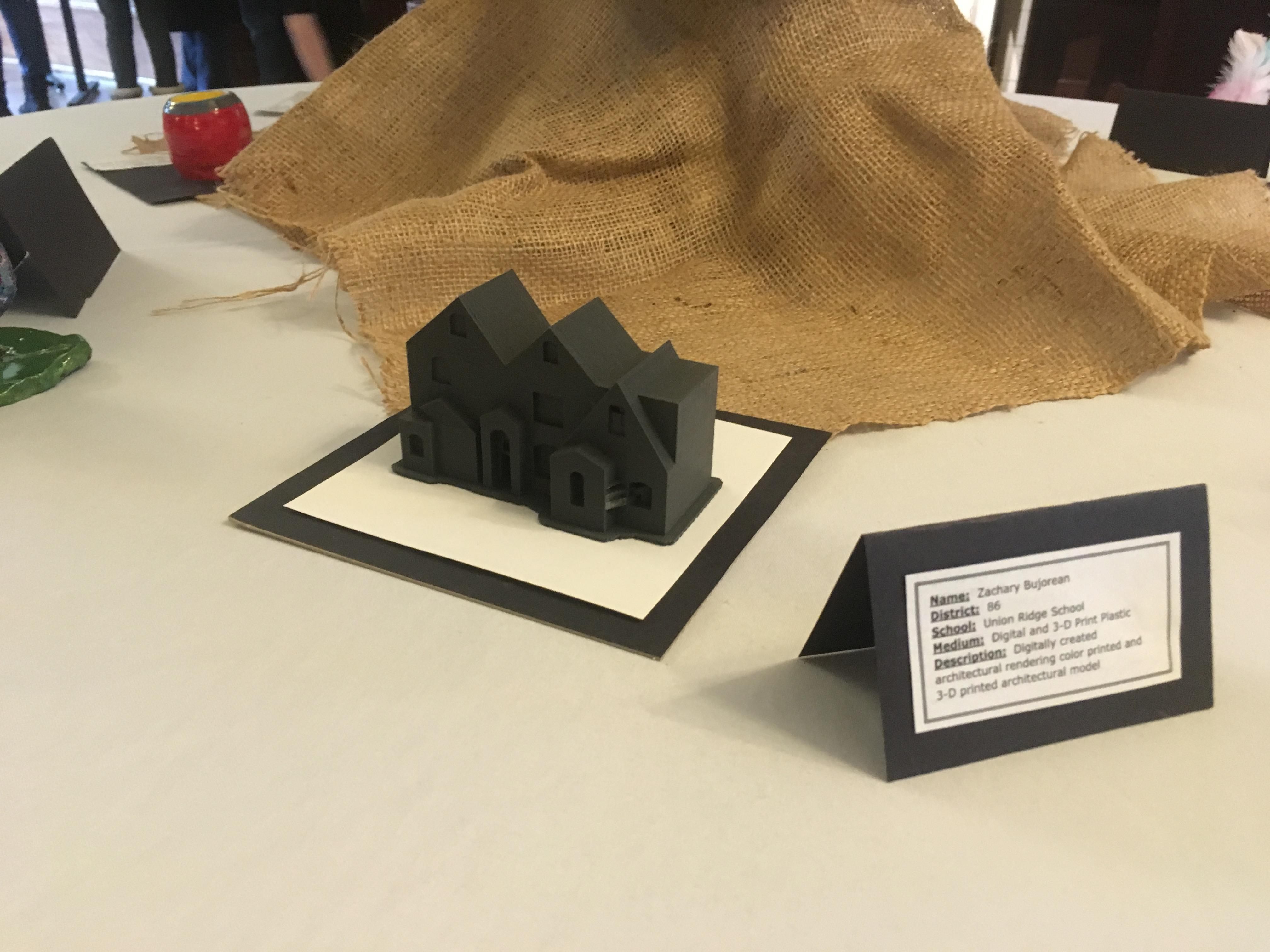 artwork exposition, 3d printed house