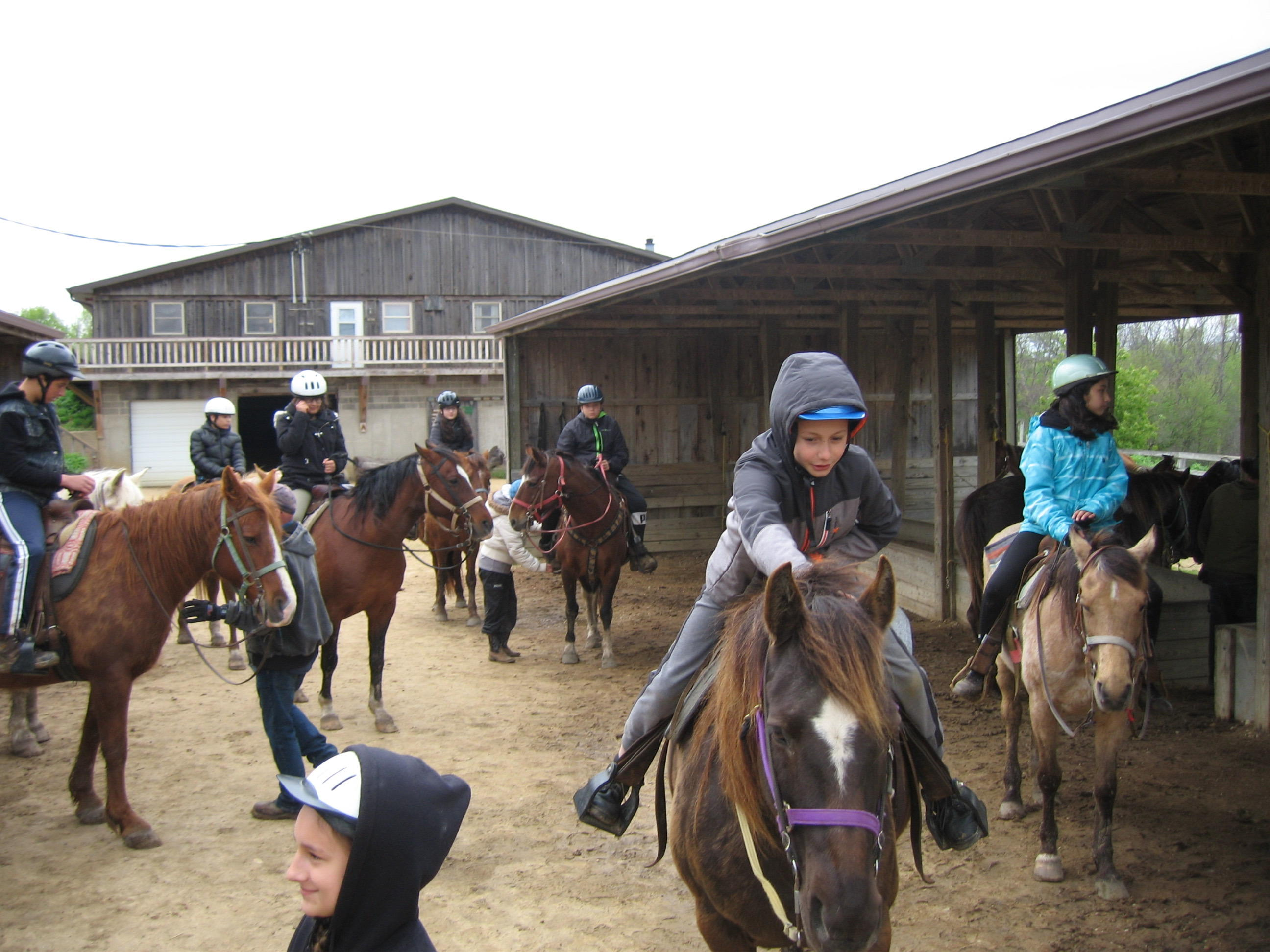 Outdoor Education Trips Students on horse back