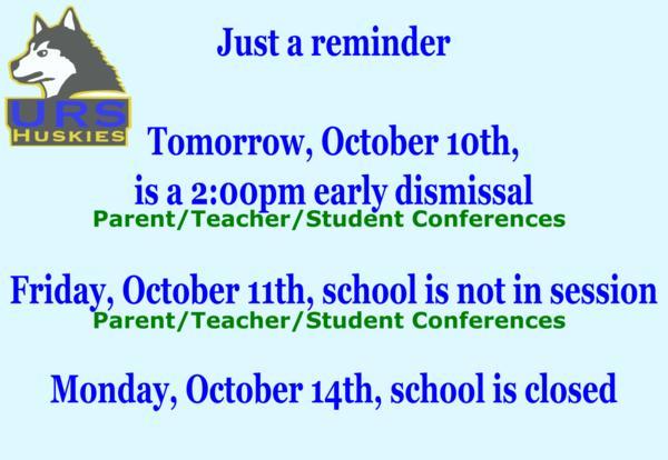 Parent/Teacher/Student Conferences