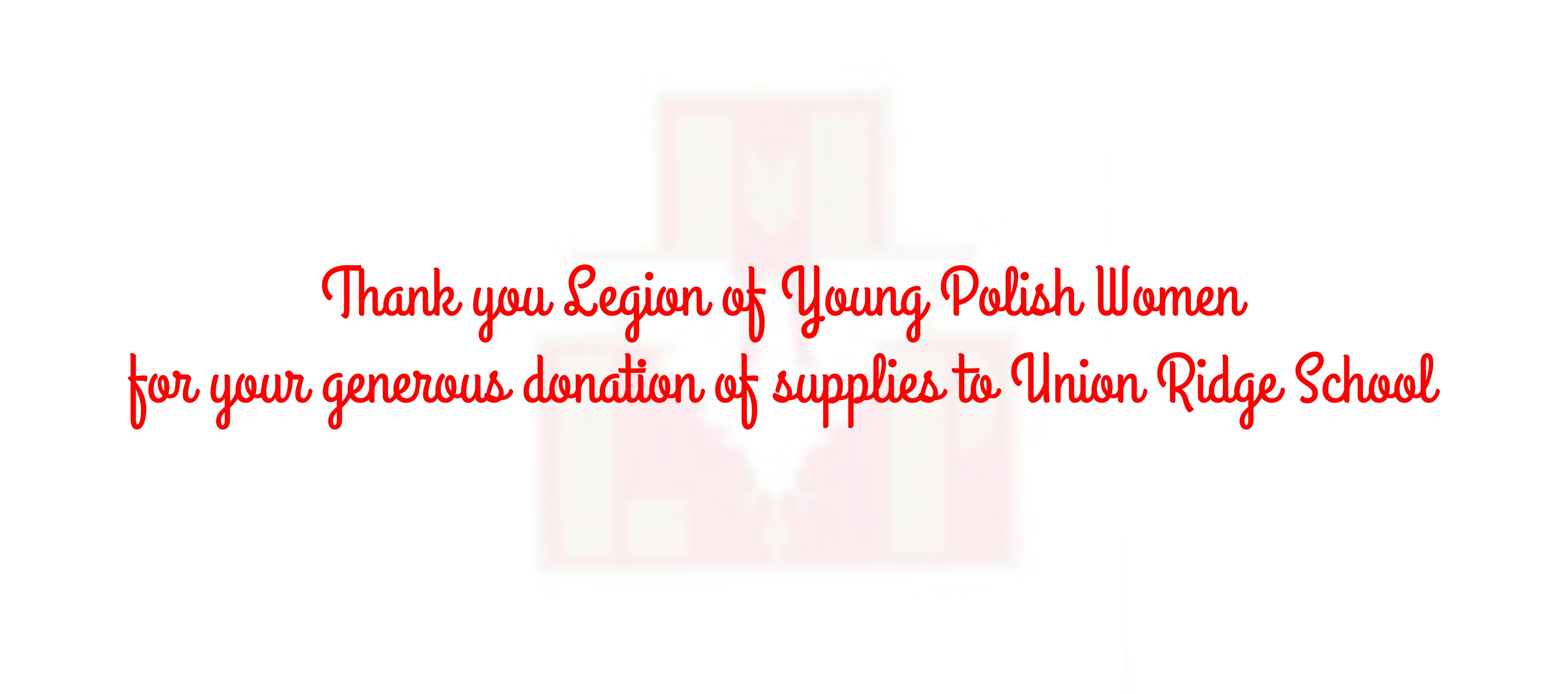 Thank you Legion of Young Polish Women