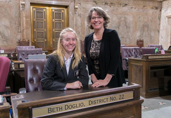NOVA student, Ella Hubbard featured in Legislative News: Washington House Democrats