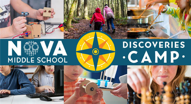 NOVA DISCOVERIES Summer Camp Logo