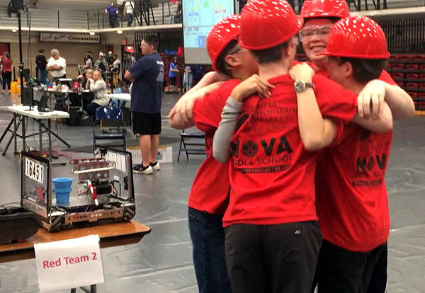 OlyBots Robotics Wins Judges Prize at Regional Competition