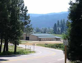 Equine Facility as viewed from upper campus