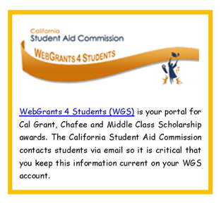 WebGrants 4 Students (WGS)