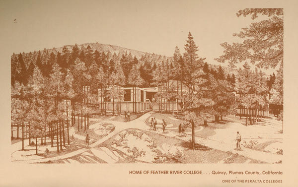 Old drawing of Feather River College