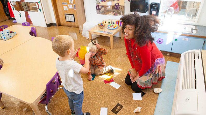 early childhood education, children with student