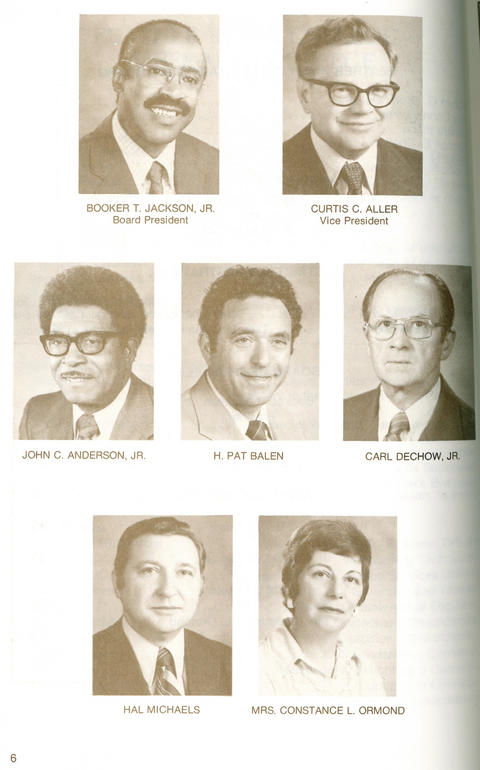 1978-1979 catalog, Page 6, Board members