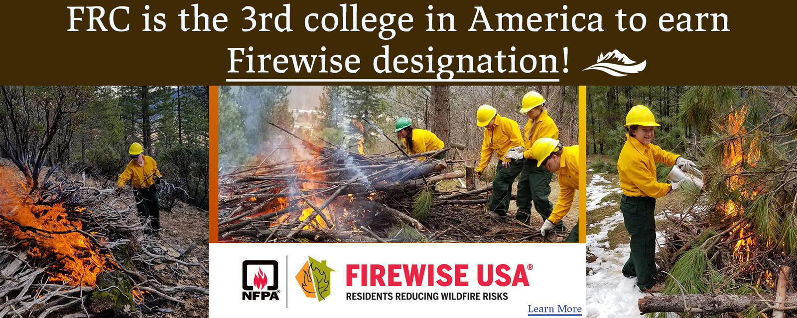 frc is the 3rd college in america to earn firewise designation.