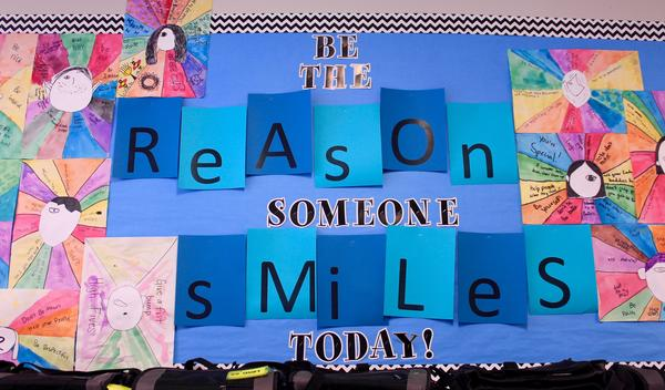 Be the reason someone smiles bulletin board